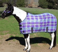 Kensington Pony Protective Fly Sheet, Lavender Mint Plaid, 50'' - 66""