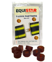 Equi-Essentials T-Lock Rubber Rings, Pack of 8