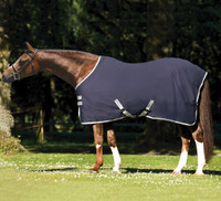 "Amigo Pony Stable Sheet, Navy with Silver, 45"" - 63"""