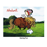 "Thelwell ""Out and About"" Greeting Card: 'Having Fun'"