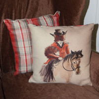 Lady Fox Throw Pillow