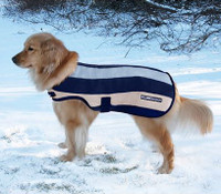 Horseware Rambo Deluxe Dog Blanket, Navy Witney Stripe