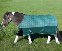 TuffRider 1200D Mini Turnout, Two-Tone Teal Plaid, 36'' - 56''