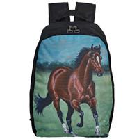 Lila Galloping Bay Horse Backpack