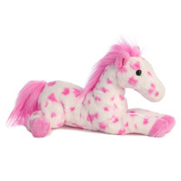 "Aurora 12"" Flopsie, Dolly, Pink & White Appaloosa"