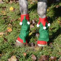 Holiday Horse Wear, Set of Four Elf Leg Wraps