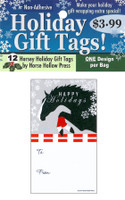 'Jumping in Snowflakes' Holiday Gift Tags, Pack of 12