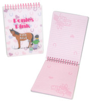 Ponies in the Pink Steno Style Notebook
