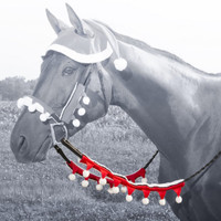 Holiday Horse Wear, Santa Rein Covers