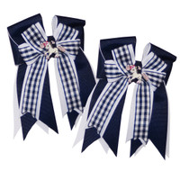 Belle & Bow Show Bows, Navy Smarties