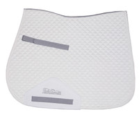 Shires Performance Suede Saddle Pad, with Wick Away Lining, Pony/Cob, White