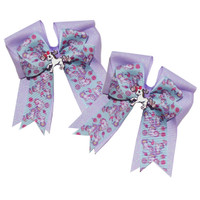 Belle & Bow Show Bows, Light Purple Unicorns