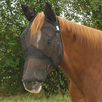 Cashel Quiet Ride Fly Mask, Long Nose with Ears - 3 Sizes