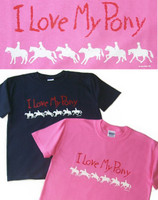 I Love My Pony Adult Tee