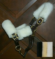 Beval Sheepskin Pony Halter Fleece Set