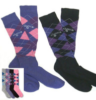 Argyle Riding Knee Socks - Ladies