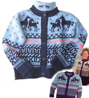 Horses and Hearts Cardigan, Sizes XL & XXLOnly