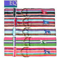 EQ Striped Ribbon Belts, Size XL Only