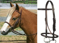 McBride Plain Raised Bridle, English Leather