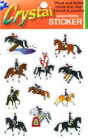 3-D Effect Horse & Rider Stickers