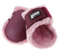 Roma Fleece Lined Pony Fetlock Boots, Mulberry/Pink Only