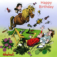 Thelwell Birthday Card 'Up for the Cup'