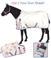 "Weatherbeeta Pony - Color Your Own Turnout Sheet, 51"" Only"
