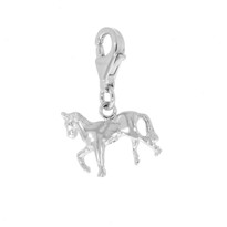 Trotting Horse Charm Sterling Silver