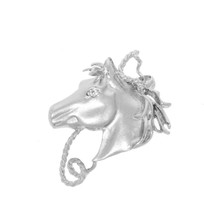 Sterling silver  Fantasy Horses Head Brooch