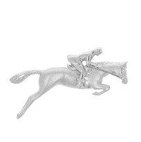 Sterling silver Horse & Jumper Brooch