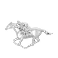 Sterling silver Race Horse & Rider Brooch