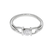 Sterling Silver Stirrup Ring (RG04)