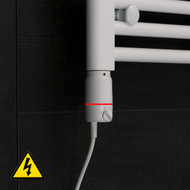 GT Thermostatic Element for Heated Towel Rail Radiator Element in White