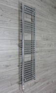 400 mm Wide x 1600 mm High Electric Prefilled Straight Chrome Heated Towel Rail Radiator