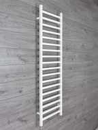 500mm Wide 1600mm High Square Tube White Heated Towel Rail Radiator