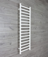 500mm Wide 1400mm High Square Tube White Heated Towel Rail Radiator