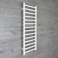 500mm Wide 1200mm High Square Tube White Heated Towel Rail Radiator
