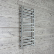 450mm Wide 900mm High Square Tube Chrome Heated Towel Rail Radiator