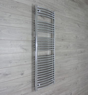 500 mm Width 1400 mm Height Heated Curved Chrome Ladder Type Towel Rail