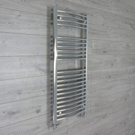 500 mm Width 1100 mm Height Heated Curved Chrome Ladder Type Towel Rail straight valves