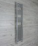 350mm Wide 1500mm High Flat Chrome Heated Towel Rail Radiator straight valves