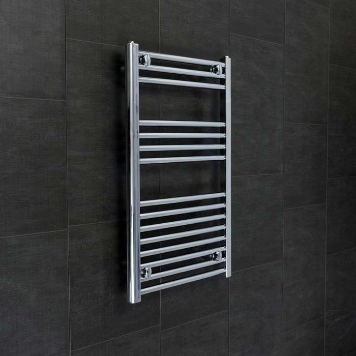 540 mm Wide 800 mm High Straight Chrome Heated Towel Rail Rad Radiator Central Heating or Electric