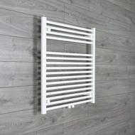 740mm wide 775mm high Straight White Heated Towel Rail Bathroom Radiator