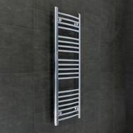 400mm Wide 1100mm High Straight Chrome Towel Radiator