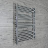 750mm Wide 1000mm High Straight Chrome Towel Radiator