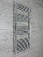750mm Wide 1600mm High Straight Chrome Towel Radiator