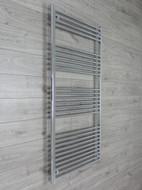 750mm Wide 1800mm High Straight Chrome Towel Radiator