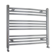 600mm Wide 600mm High Curved Chrome Towel Radiator