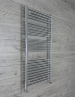 750mm Wide 1300mm High Curved Chrome Towel Radiator