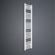 300mm Wide 1600mm High Flat White Towel Radiator